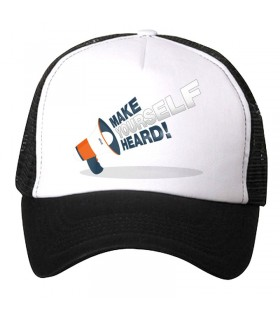 make your self heard art printed cap