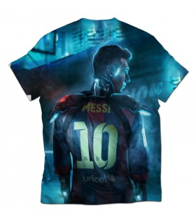 MESSI ALIEN all over printed t-shirt