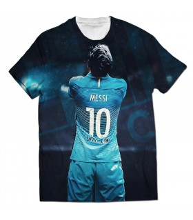 Lionel messi all over printed t-shirt