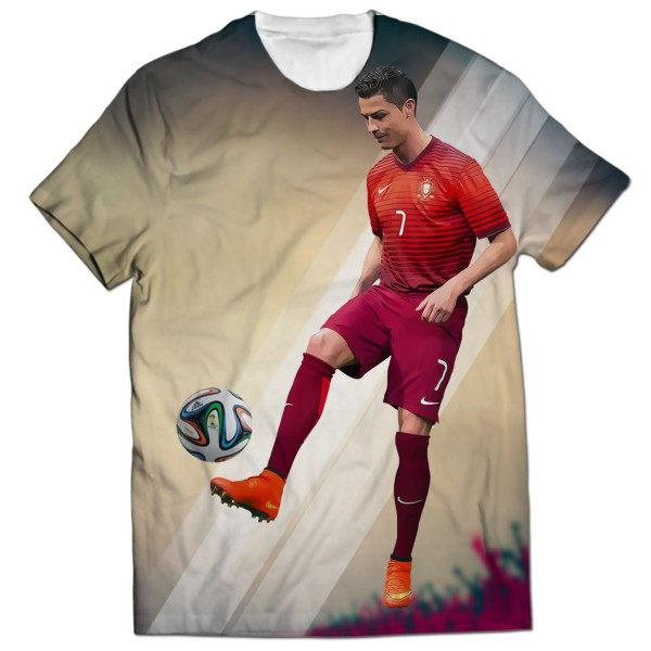 newest bcdee d8f74 cristiano ronaldo all over printed t-shirt