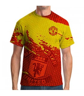 manchester united all over printed  t-shirt
