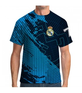 real madrid all over printed  t-shirt