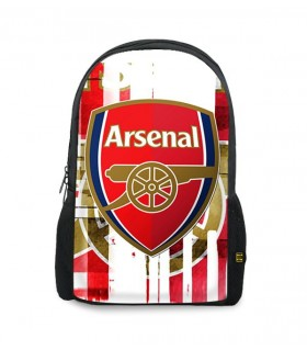 arsenal art printed backpacks
