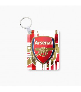 arsenal art printed keychain