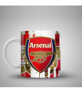 arsenal art printed mug