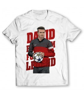 david beckham printed graphic t-shirt