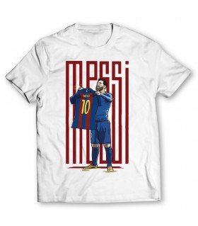 messi printed graphic t-shirt