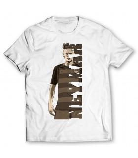 neymar printed graphic t-shirt