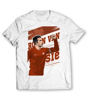 robin van persie printed graphic t-shirt