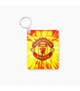 manchester united art printed keychain