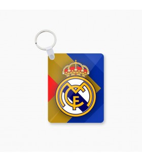 real madrid art printed keychain