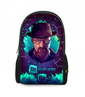 Breaking Bad Walter White Purple printed backpacks