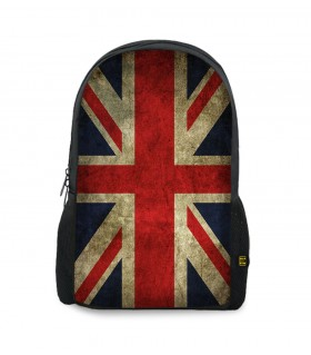 Union Jack art printed backpacks