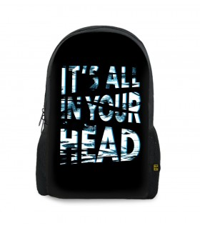 its all in your head art printed backpacks
