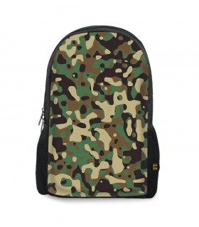 camouflage army art printed backpacks
