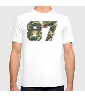 87 art printed t-shirt