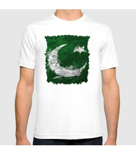 pakistan flag printed graphic t-shirt