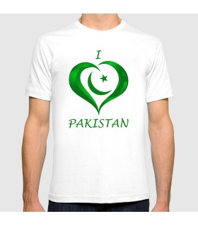 i love pakistan printed graphic t-shirt
