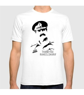 raheel sharif art printed t-shirt