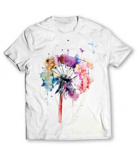 Abstract Flower printed graphic t-shirt