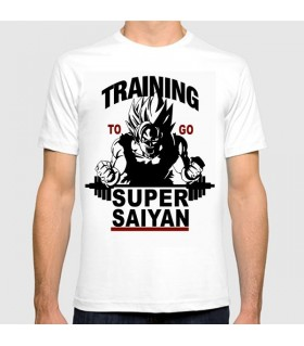 training to go art printed graphic t-shirt