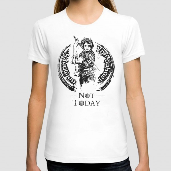 1d833959 not today game of thrones art graphic printed woman t-shirt Rs.1-099 ...