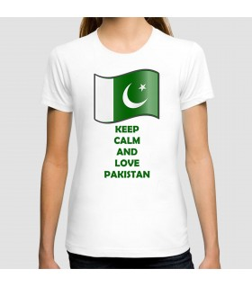 keep calm and love pakistan printed graphic t-shirt