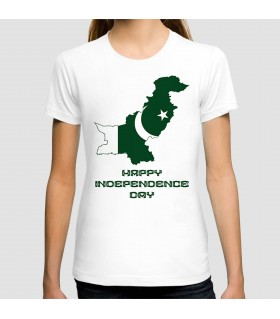 happy independence pakistan printed graphic t-shirt