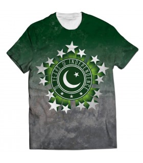 70 years of independence all over printed t-shirt
