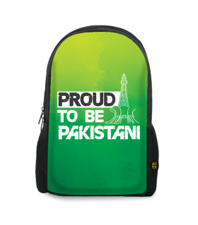 proud to be pakistani printed backpacks