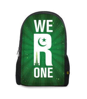 we r one printed backpacks