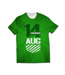 14 august all over printed t-shirt