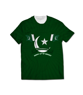 independence day all over printed t-shirt