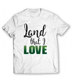 land that i love printed graphic t-shirt