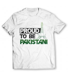 proud to be pakistani printed graphic t-shirt