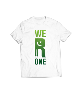 we r one printed graphic t-shirt