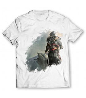 Ezio Auditore printed graphic t-shirt
