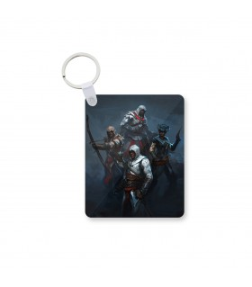 Assassins Creed character printed keychain