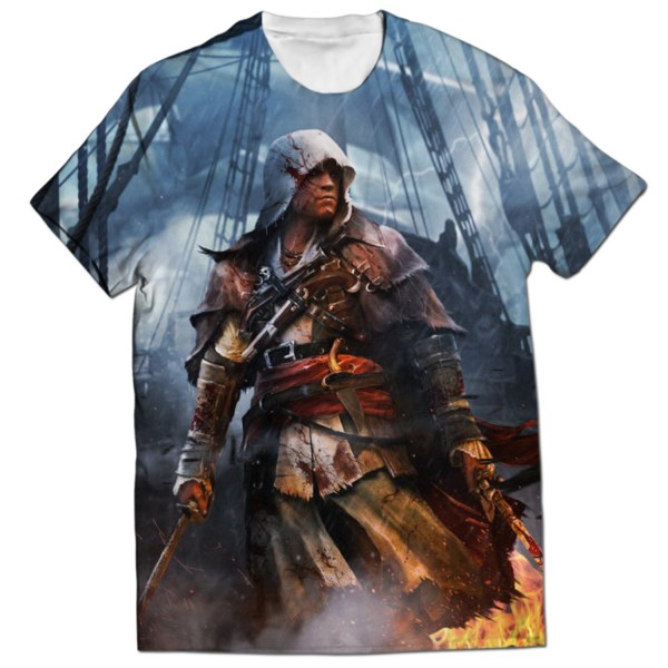 Assassins Creed Edward Kenway All Over Printed T Shirt Rs 1 899