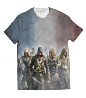 Assassins Creed unity all over printed t-shirt