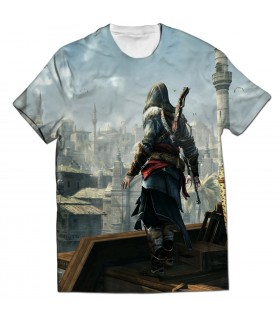 Assassins creed revelations all over printed t-shirt