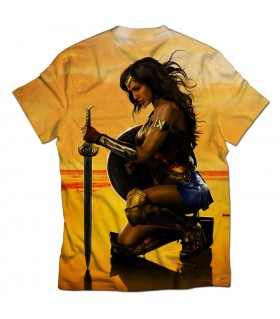 wonder woman all over printed t-shirt