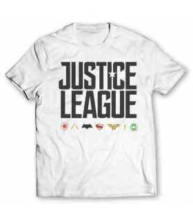justice league printed graphic t-shirt