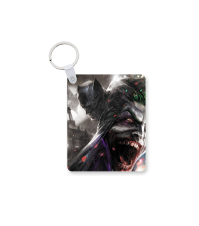 Batman and joker printed keychain