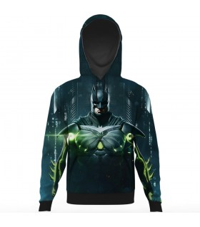 batman all over printed hoodie