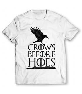 Crows before hoes printed graphic T-shirt