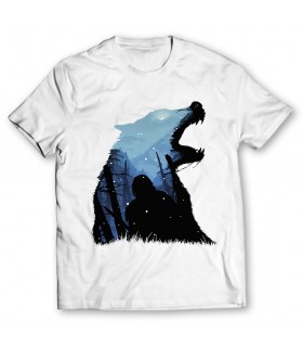 wolf printed graphic t-shirt