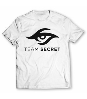Team secret printed graphic t-shirt