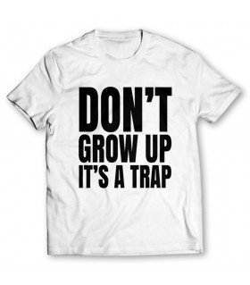 dont grow up printed graphic t-shirt