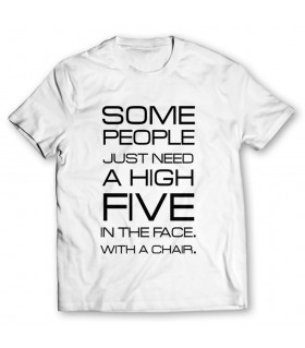 high five printed graphic t-shirt